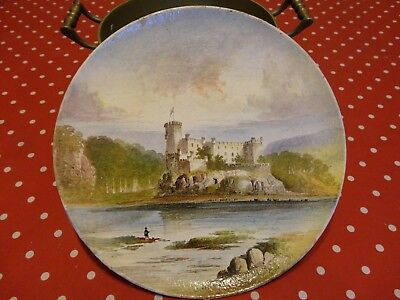 19th Century Copeland Earthenware Plaque/Plate of Dunvegan Castle by W.Yale .