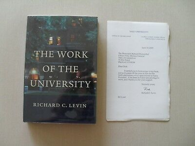 The Work Of The University W  Letter From Richard C  Levin To Richard Blumenthal