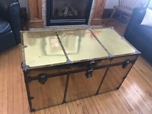 Rare Brass Steamer Trunks