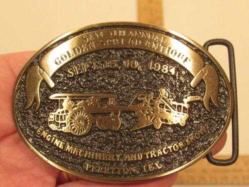1984 ENGINE MACHINERY & TRACTOR SHOW - Perryton, TX - Buckle - Solid Bronze - #1