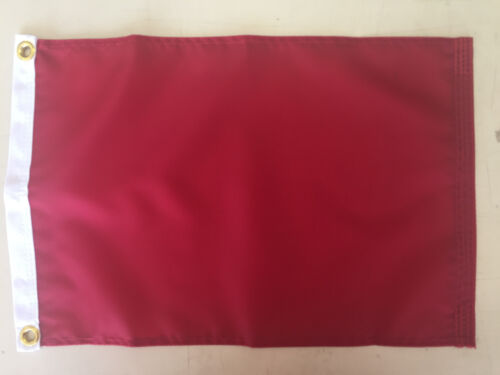"""Protest Red Indoor Outdoor Nylon Wall Boat Flag Grommets 12"""" X 18"""""""