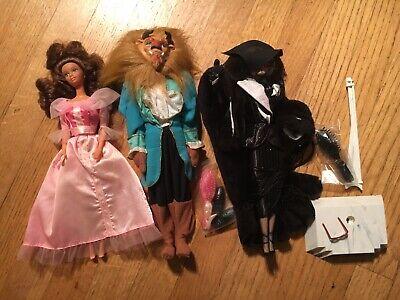 Loose Mint Barbie Lot Beauty And The Beast Gift Set 1992 Cruella De Vil 1996
