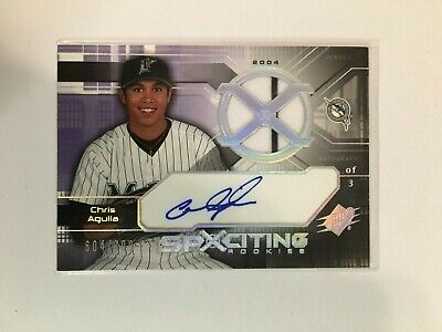 F112,666  2004 SPx #167 Chris Aguila AUTO JERSEY/799 MARLINS RC image