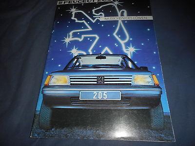 1984 Peugeot 205 German Market Brochure Catalog Prospekt