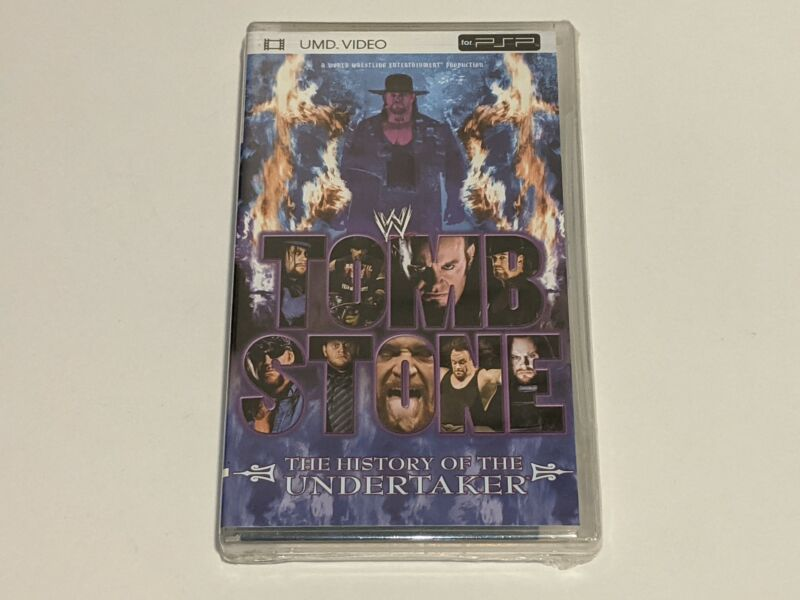 *NEW* TOMBSTONE: HISTORY OF THE UNDERTAKER WWE Wrestling UMD Sony PSP Video WWF