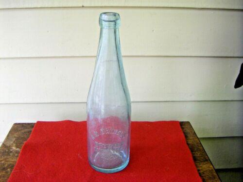 Antique C.H. Daniels Brewery Manistee Mich. Crown Top Beer Bottle Aqua Glass