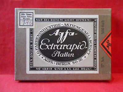 Agfa Extrarapid-Platten 6:9x12cm A1589 17Sch. 500H&D. Neu