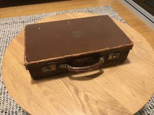 Vintage, retro small briefcase suitcase