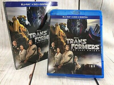 Transformers The Last Knight Blu Ray w/ Sleeve  Free Shipping