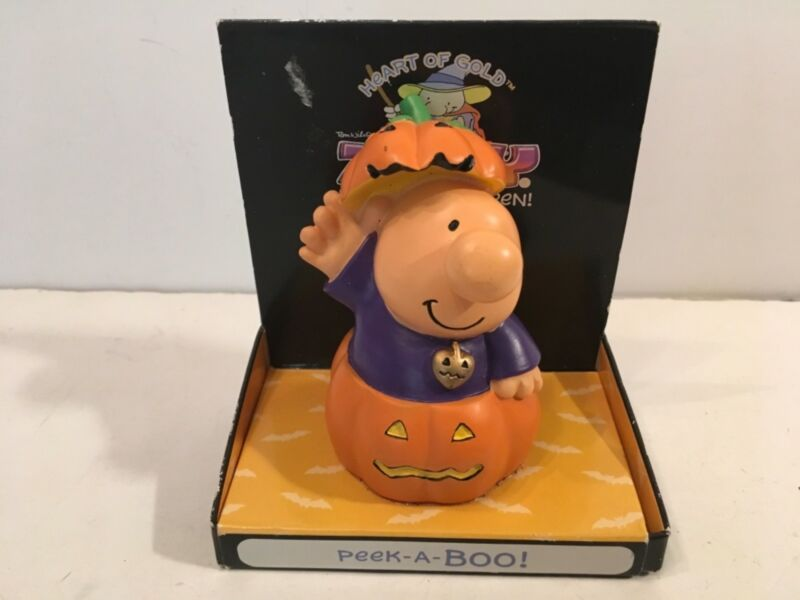 Ziggy Peek-A-Boo Halloween Figurine Hearts of Gold Russ 2005 Pumpkin