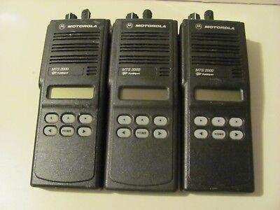 3 Motorola Mts 2000 Model H01ucf6pw1bn Uhf 800 Mhz Not Working Inv64