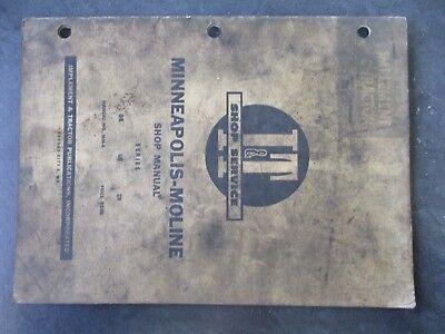 Minneapolis Moline Gb Ub Zb Tractor Shop Manual