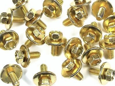 40 pcs Honda Acura Body Bolts- M6-1.0 x 16mm Long- 10mm Hex- 19mm Washer- #170F