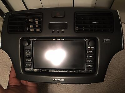 02 03 LEXUS ES300 GPS NAVIGATION HEAD UNIT CD PLAYER AM/FM RADIO OEM