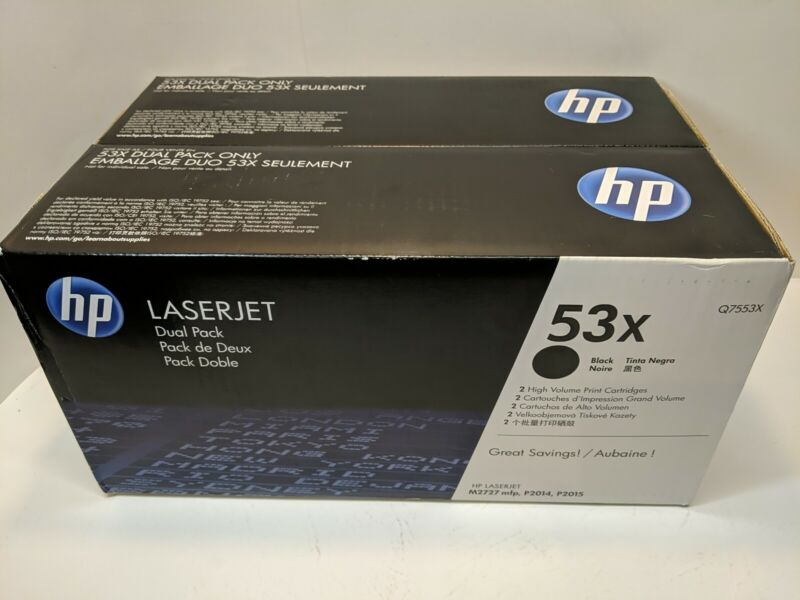 HP LASERJET 53X BLACK 2-PACK (Dual Pack) New in Box Genuine