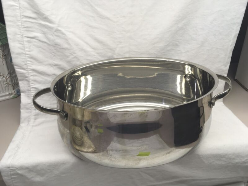 Princess House 6 Quart Oval Roaster 6563 Stainless Steel No Lid