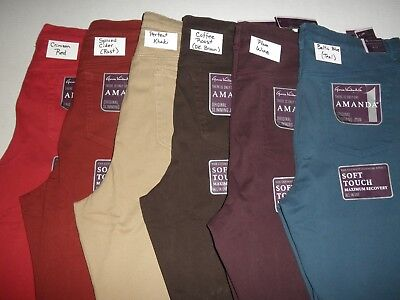 NWT Gloria Vanderbilt Amanda PLUS Heritage Fit classic rise pants Colored Jeans  ()