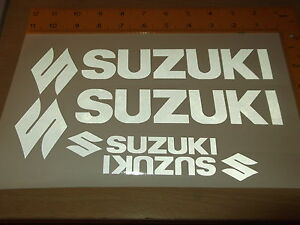 SUZUKI WHEEL STICKERS *REFLECTIVE * Motorcycle/Motorcross l Sticker Decals X4