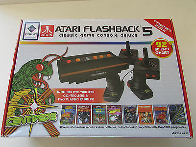 Used Atari Flashback 5 Classic Game Console Deluxe Collectors Edition