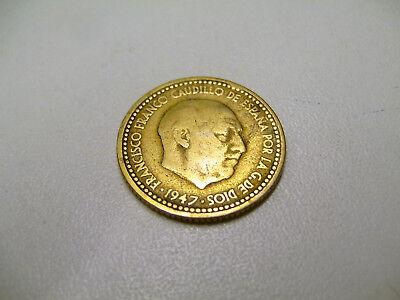 SPANIEN 1947  1 PTA - Münze gut bis sehr gut erhalten