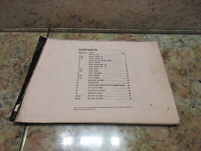 Mori Seiki Sl1a Sl 1 A Contents Sheet W Bed Leg Description Cnc Lathe