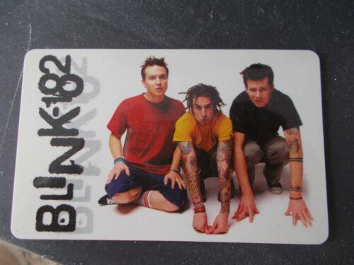 "BLINK 182 Calendar / Card 2001  Plastic  3 1/2 "" X 2 1/8"""