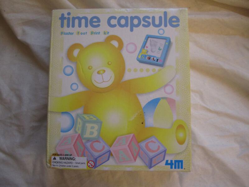 TIME CAPSULE PLASTER FOOT PRINT KIT - NEW BABY SHOWER GIFT