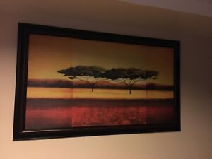 Tree painting with frame