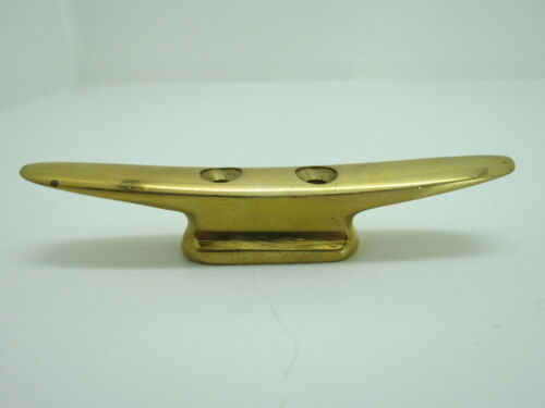 5+1/16 INCH BRASS CLEAT SHIP BOAT DOCK CHOCK BRONZE (D3A1709)