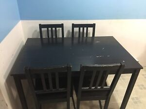 Dining table IKEA 4 chairs