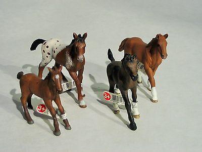 Schleich SET 4 x Pferde Fohlen 13712, 13730, 13733, 13762, Pferd NEU PF01