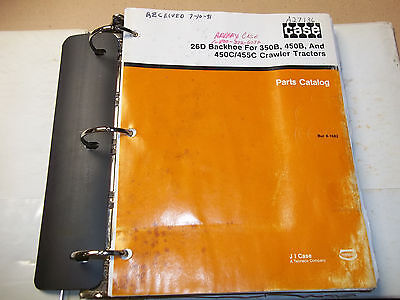 J I Case 26d Backhoe For 350b 450b 450c 455c Crawler Tractor Part Manual Catalog