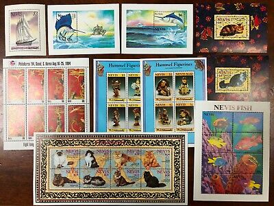 Lot of Nevis Old Stamps MNH