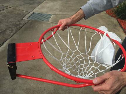 Steel Basketball Ring complete with Spring, Bolts and Net