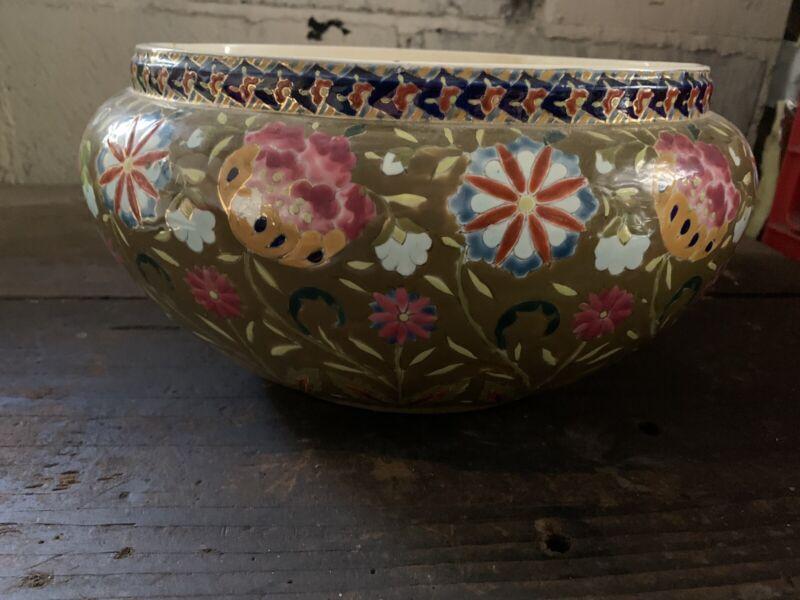 Vintage Fischer J. Budapest Majolica Planter/Bowl 541