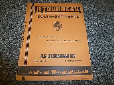Letourneau Model U9 Carryall Scraper Parts Catalog Manual