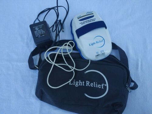 Light Relief Elite LR150 Infrared Pain Therapy Device pad,AC adapter,case,straps