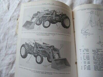John Deere 47 Farm Loader Parts Catalog Book Manual