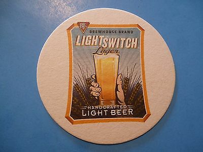 Beer Coaster     Bjs Brewhouse Light Switch Lager   Nationwide Restaurant Chain