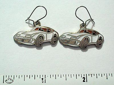 Corvette Earring - Chevrolet Corvette Earrings White