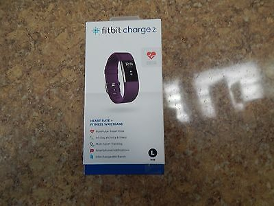 BRAND NEW Fitbit Charge 2 Activity Tracker with Heart Rate Monitor  PLUM - LARGE