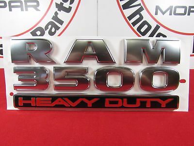 DODGE RAM 3500 Heavy Duty Platinum Nameplate NEW OEM MOPAR