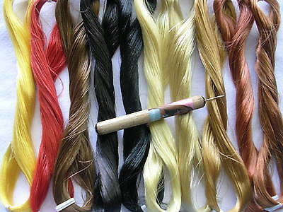 PRO HAIR ROOTING TOOL 4 BARBIE / OOAK DOLLS + 1 Skein Saran & 1 extra needle