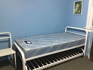 Single bed with trundle bed with match chair Macquarie Fields Campbelltown Area Preview