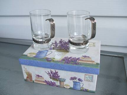 """""""GLASSES""""   WITH PEWTER HANDLES"""
