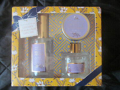 LIVEGREEN Fragrance 3 pc Gift Set HONEY LAVENDER Room Spray Candle Reed Diffuser Lavender Room Diffuser
