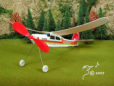 Red Piper Rubber Band Powered Airplane or -