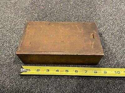 Starrett No. 196a Dial Test Indicator Original Hard Wood Box Case Only Free Ship