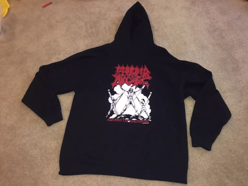 Morbid Angel Altars Of Madness Hoodie NWOT Earache Records Black Metal