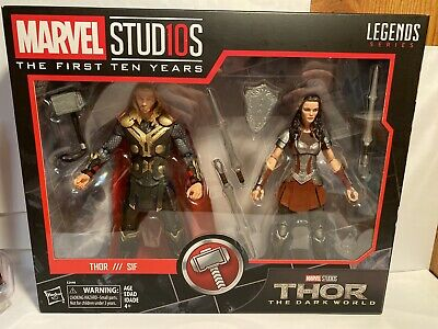 Marvel Legends First 10 Years THOR and SIF Thor: The Dark World 2pack New Hasbro